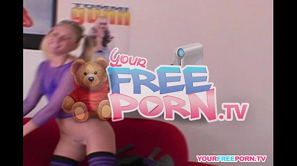 Blonde teen with pigtails have extremely loud orgasm