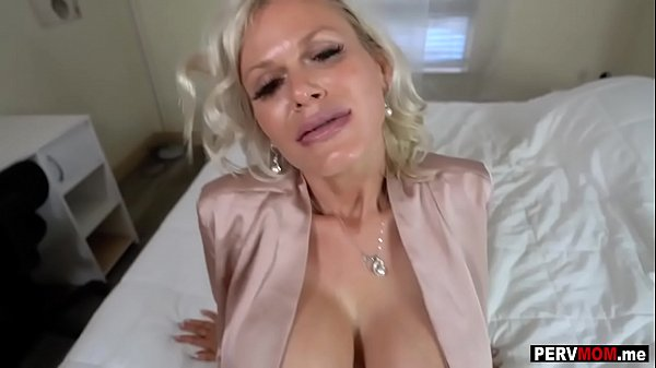 Gigantic boobs granny mom loves a fuck by her stepson