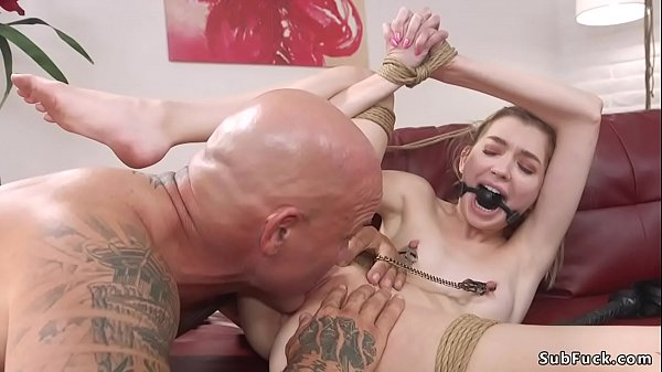 Married couple in bdsm roleplay sex
