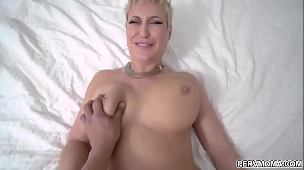Horny busty milf Ryan Keely fucks her stepson again pulling him inside the bedroom and popping out her wet pussy
