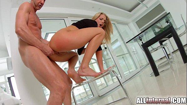 AllInternal Rough anal sex for sexy Christen before creampie