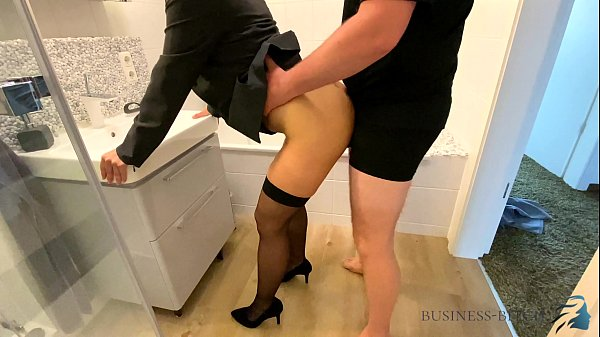 female boss bathroom quickie before work - business bitch Thumb
