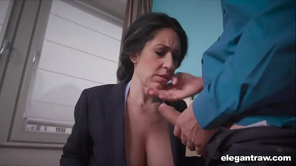Business Woman Swallows While Working