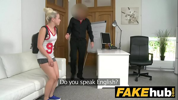 Fake Agent Young perky tits model fucked on the...