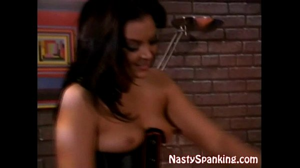Stocking Lesbian Spanked