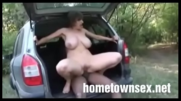Freaky White Mom gets fucked outside by BBC