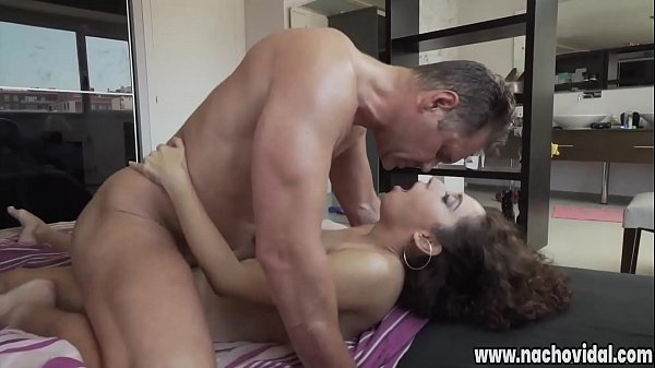Nacho Vidal stuffs his enormous schlong into her pussy from behind. Melody's sweet slit squirts when Nacho fingers her. A furious power-fuck results in a spritz of jizz over her tits.