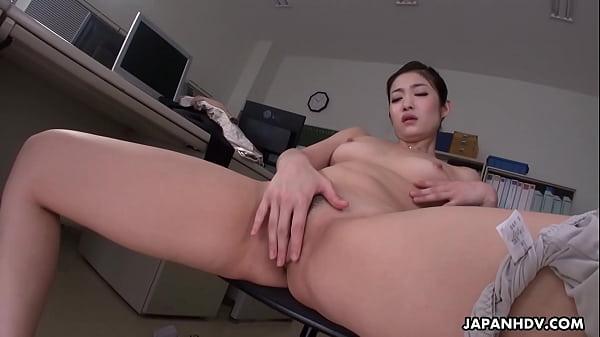 Japanese office lady, Ryu is masturbating while...