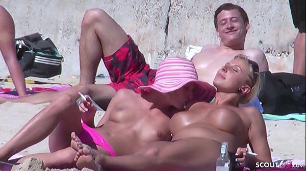 Caught and Voyeur Real Lesbian Teens at Beach on Ballerman 6