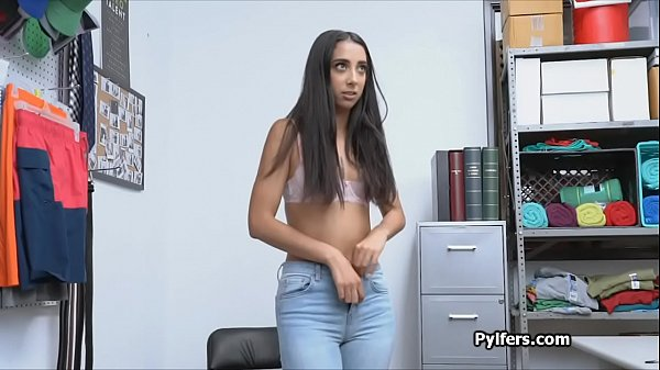 Sexy Indian American thief busted and fucked