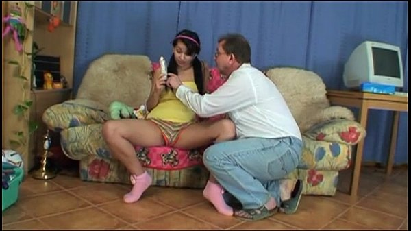 Special gift and a cock to suck for my little daughter!