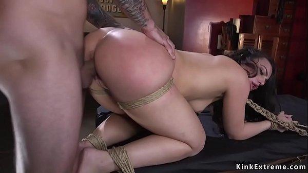 Sexy hostage in bondage rough banged