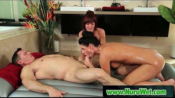 Hot masseuse gives nuru massage 21