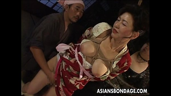 Bound Japanese MILF groans while her pussy is teased Thumb