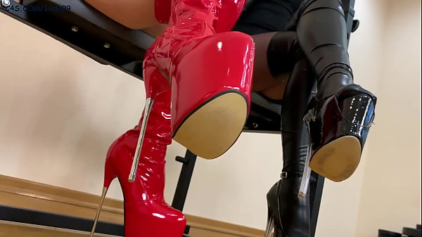 High Heels and Stilettos Fetish With Two Latex Mistresses Thumb
