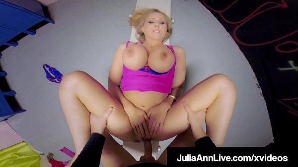 Locker Room Fuck N Suck! Milf Julia Ann Gets Hard Gym Cock!