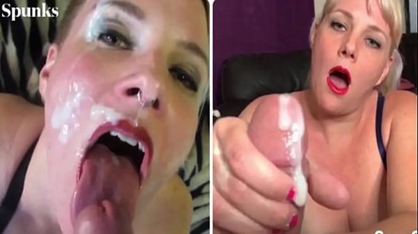 Amazing Amateur Cum Facial & Swallow Cumpilation