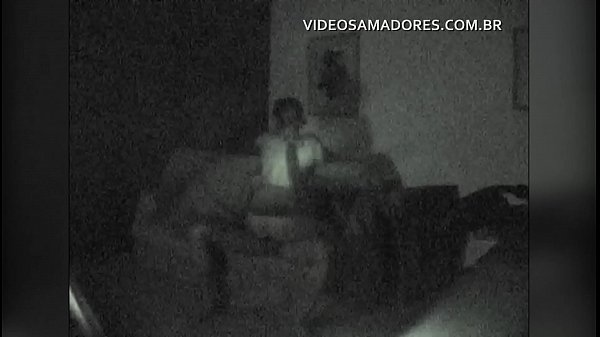 Safety equipment with nightshot records video of couple fucking on the living room sofa