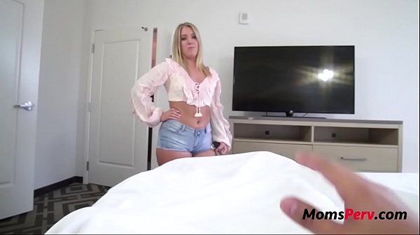 Blonde MILF Mom Decides To Wake Me Up With A Fuck- Candice Dare
