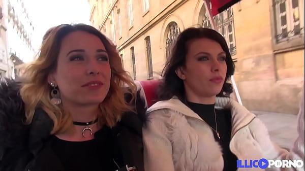 Carla et Sophie visitent Paris et se partagent une bonne bite dans un garage Thumb