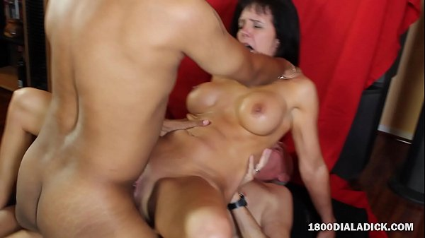 800DAD MILF Slut Lexi Lux DP'd and Gangbanged by Moving Crew
