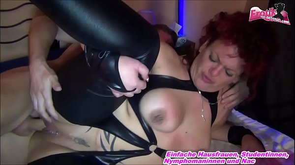German FAT ASS m. in leather fuck with young gu...
