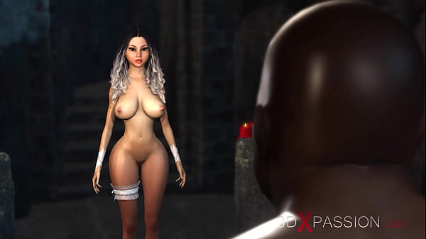 Hot sex! Black guy plays with a sexy bride in t...