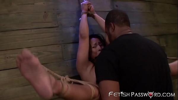 Latina MILF Becca Diamond spreads legs for BDSM penetration
