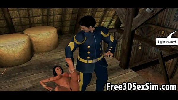 Sexy 3D cartoon indian babe getting her pussy licked
