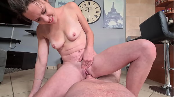 Cowgirl piss on cock while fucking Thumb