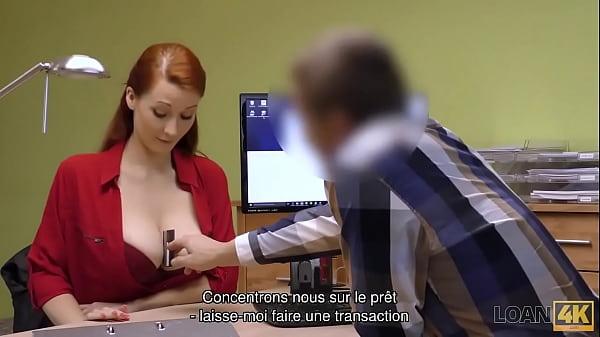 LOAN4K. Loan Officer Has Access To Redhead's Beautiful Pussy