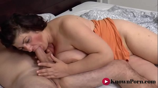 Busty mature loves the taste of cock in the mor...