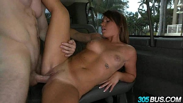 Athletic babe gets fucked in the ass on the 305bus 2.4
