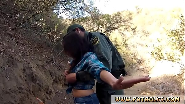 Fake black female cop and fucks whore Mexican border patrol agent has