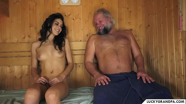 sauna with grandpa