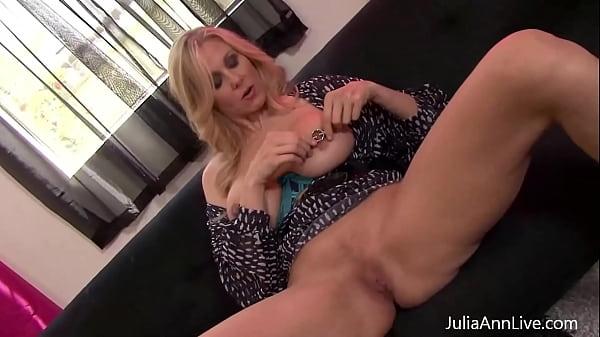 Dirty Talking Self Pleaser Julia Ann Has Fun With Her Nipple Clamps