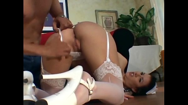 Nurse analsex in a garter belt and white stockings Thumb