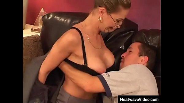 Stepmom enjoys family sex with her stepson