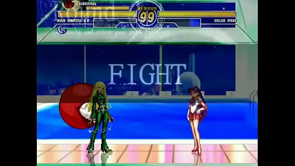 Kula Diamond & Kuromaru (l.) vs. Sailor Mars