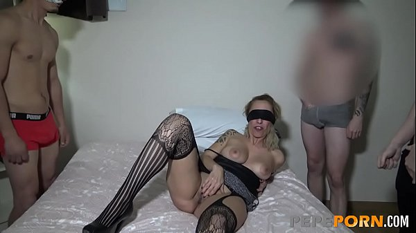 She gets so horny before her gangbang that star...