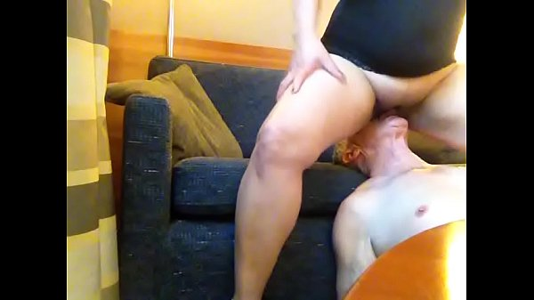 Cuckold doing cleanup after Asian milf serviced