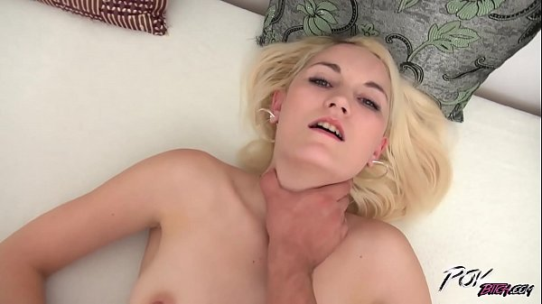 First hard fuck for blonde cutie with cum on belly Thumb