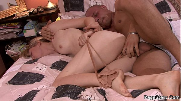 Tied up girl takes b. deepthroat and sex