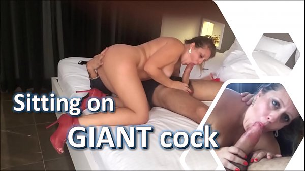 My young wife went crazy sitting on giant cock - cuckold slut real amateurs - complete on red