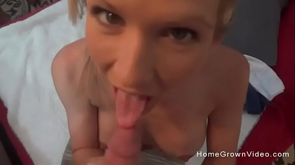 Gorgeous wife masturbating then sucking a hard cock