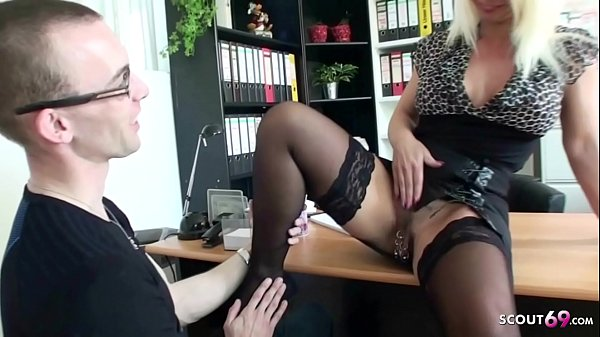 German Mature Seduce Young Boy to Fuck at job interview