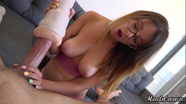 Testing two toys on a big cock | Riley Reid's vagina VS Adriana Chechik's ass Fleshlight Thumb