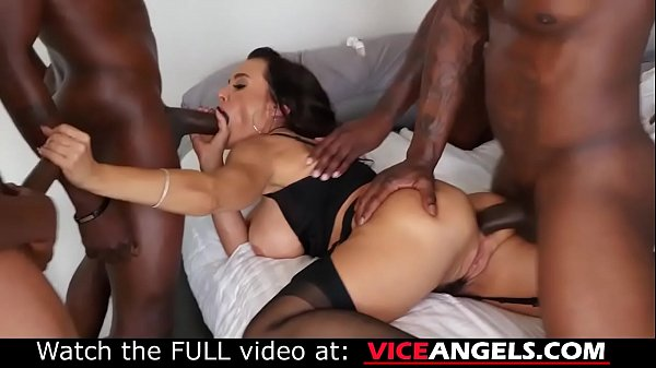 Large boobed Lisa Ann interracial anal gangbang (Lisa Ann , Jon Jon , Jason Brown , Rob Piper , Isiah Maxwell , Nat Turnher)