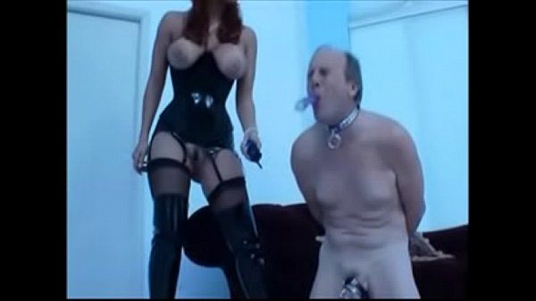Mom Gives Dad Electric Chastity and wanks See pt2 at goddessheelsonline.co.uk