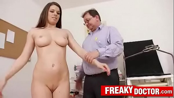 Old with young medical exam with busty chick Mo...